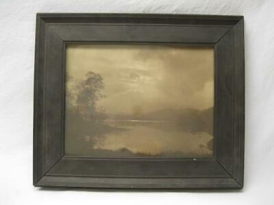 Estate Fresh Antique Photo Maine ? Wide Wooden Frame Old Vtg