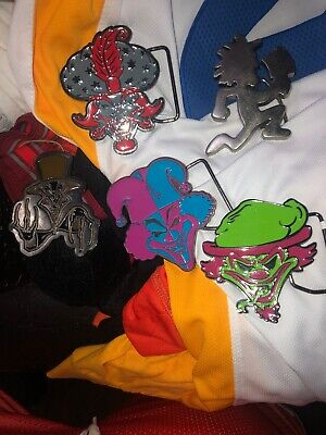 Insane Clown Posse Belt Buckle Lot The Wraith Riddle Box Jeckel Brothers X5