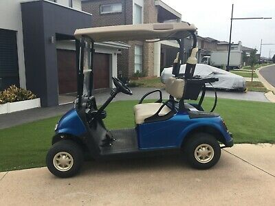Electric Golf Cart Blue 2014 EZGO RXV used registration ready