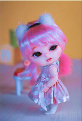 18cm Dislike Baby Cute Doll BJD MSD 1/8 Resin Ball-Jointed Dolls Free Face Up