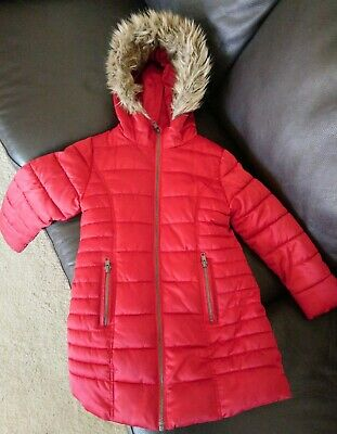 Girls Age 6 Red Next Winter Coat