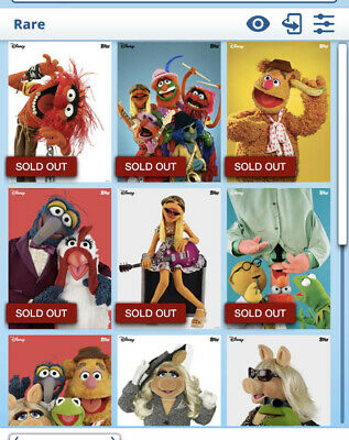 Topps Disney Collect Card Trader Vintage Muppets Series 1 Set of 6 Plus Award