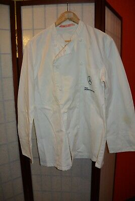 Team Sauber Mercedes Chef Restaurant uniform jacket Cook Wear 50 .ALY