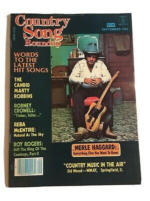 Vintage Country Song Roundup Magazine September 1982 Merle Haggard