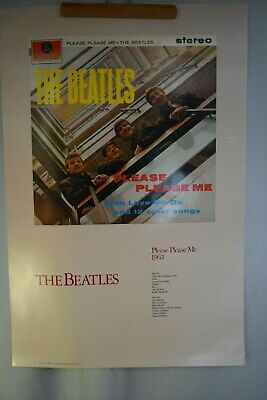 "THE BEATLES Poster ""Please Please Me"" 1963 Apple Corps. 36"" X 24"" 1987"