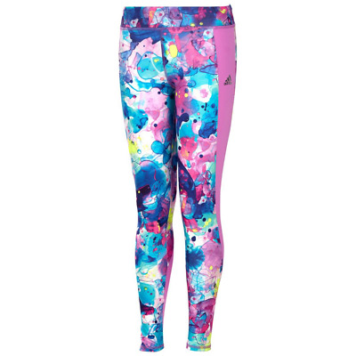 adidas girls Go With The Flow Printed Tights Medium