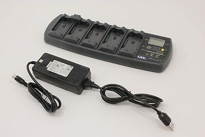 LXE Multi-Charger Plus 5-Slot Battery Charger 160041-0001 W/ POWER SUPPLY