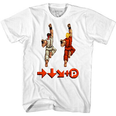 Street Fighter Capcom Video Game Ryu Punch Stance Adult T Shirt
