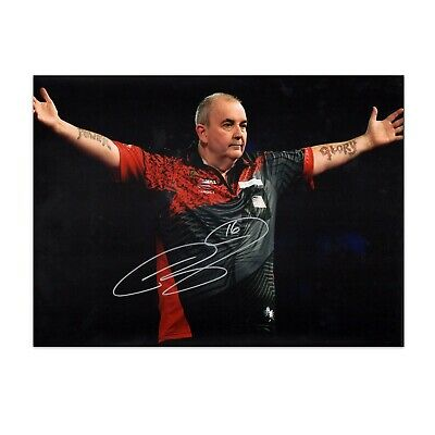 Phil Taylor Signed Darts Photo: The Power | Autographed Sports Memorabilia