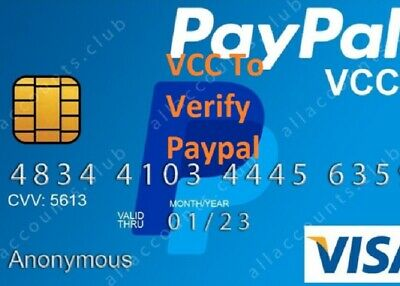 VCC Virtual Credit Card For Paypal Verification $2 balance|  USA ,UK and EUROPE