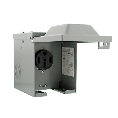 Dumble RV Breaker Box - RV Electrical Outlet RV Receptacle 50 Amp RV Outlet Box