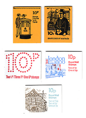 GB   All 10p   Booklets  1971  1980  Sets and Odds  Stitched and Folded Complete