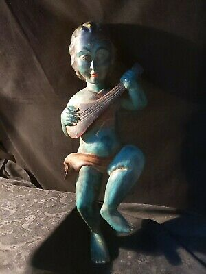 Vintage Folk Art Hand Carved Wood Beautiful