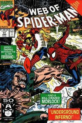 Web of Spider-Man (1985 series) #77 in NM minus condition. Marvel comics [*4f]