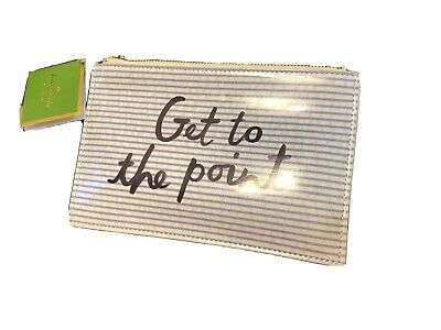 Kate Spade Seersucker Pencil Pouch Get To The Point with Pencils and Accessories
