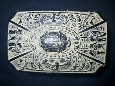 RARE ANTIQUE ANCIENT EGYPTIAN Box Scarab and Isis Hold Eye of Hours 1420-1404 Bc