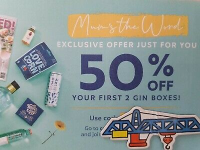 Craft Gin Club - Gin and more delivered to your door 50% OFF Voucher code coupon