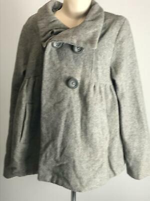 Girls Zara Kids Grey Winter Coat Jacket Kids Age 9-10 Yrs