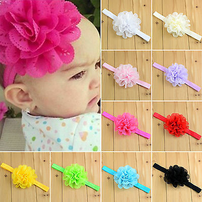 Baby Headband Kids Girls Lace Headbands Hairband Hair Accessories Flower / Bow a