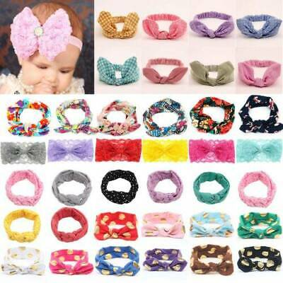 Baby Girl's Bunny Kid's Turban Knot Rabbit Headband Bow Hair bands Head wrap Lot