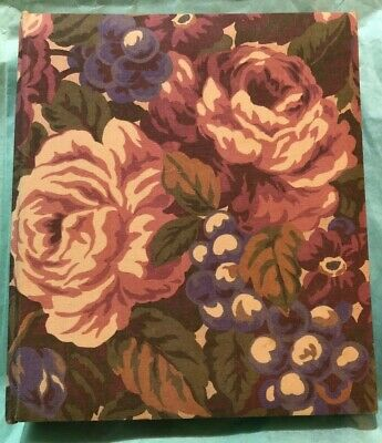 ADDRESS PASSWORD BOOK C.R. Gibson Floral Tabs Phone 6 Ring Refillable FREE SHIP