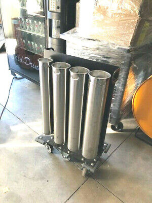 Very Nice Stainless 8 Bay Rolling Under Counter Cup Dispenser For Restaurants