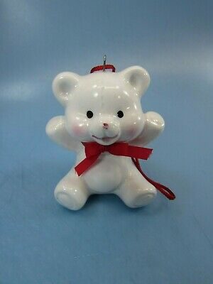 Vintage Midwest Japan Bone China Porcelain Christmas Teddy Bear Ornament 32948