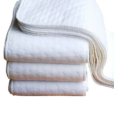 10Pcs Baby Cotton Reusable Soft Inserts Diaper Washable Cloth 3 Layers Diaper