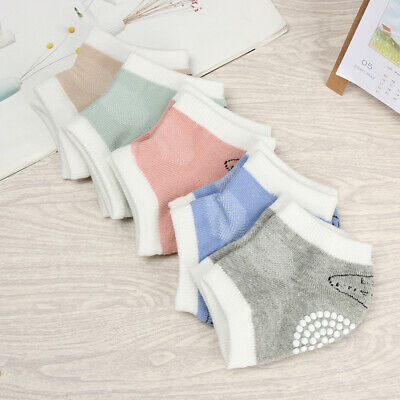 Design Mulcolor Infant Safety Pads Baby Knee Pad Non-slip Crawling Socks Cotton