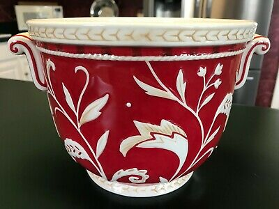 Fitz and Floyd Town & Country Cachepot Earthenware Planter
