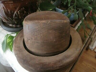 Vintage Antique Wood Hat Mold & Block-  Millinery Form -Kilian & A.H.S Co. NY