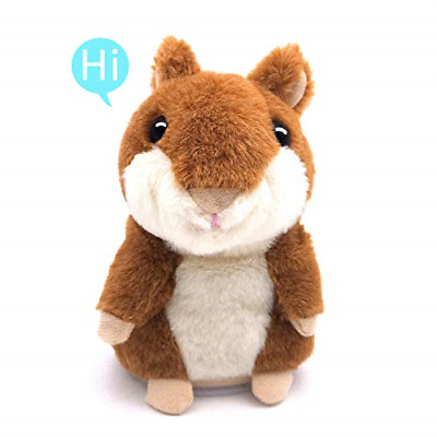 Talking Hamster Repeats What You Say Plush Animal Toy Electronic Hamster Mouse