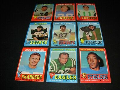 "1971 Topps football Hi # cards ""You Pick Them"" $1.50 each"
