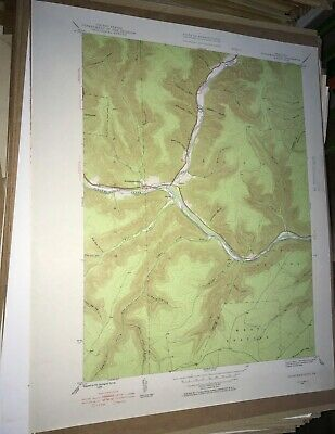 Sinnemahoning PA Cameron Cty USGS Topographical Geological Survey Quadrangle Map