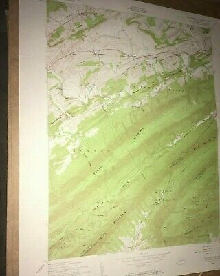 Andersonburg PA Perry Co USGS Topographical Geological Survey Quadrangle Map