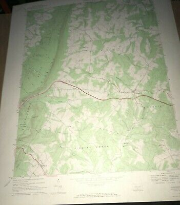 Hustontown PA Fulton County Old USGS Topographical Geological Quadrangle Map