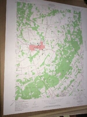 Quakertown PA Bucks Co. USGS Topographical Geological Survey Quadrangle Old Map