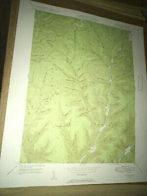 Short Run PA Potter County USGS Topographical Geological Survey Quadrangle Map