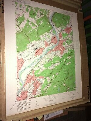 Pittston PA Luzerne County USGS Topographical Geological Quadrangle Topo Map