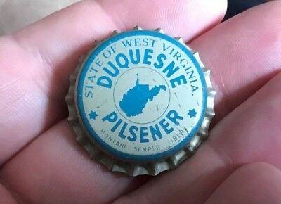 Unused Duquesne Pilsener Beer Wv Tax Cork Bottle Cap / Crown Pittsburgh Pa
