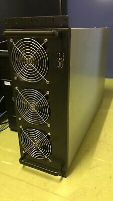 8 GPU enclosed mining rig with 6 fans video card