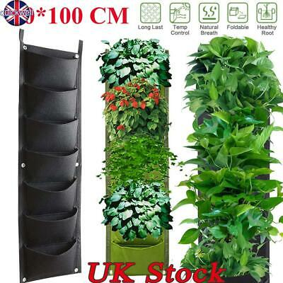 7 Pockets Garden Planter Vertical Growing Planting Bag Wall Hanging Pocket Pot