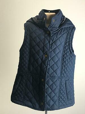 Girls Marks & Spencer Navy Quilted Body Warmer Coat Jacket Kids Age 11-12 Years