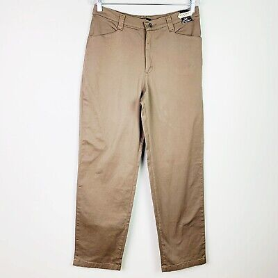 Lee Khakis Womens Pants Size 12 Olive Brown Stretch Straight Leg Comfort Waist