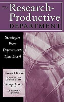 The Research-Productive Department: Strategies from Departments That Excel, Har