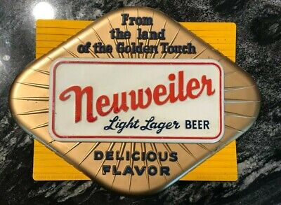 Vintage Neuweiler Beer - Brewing Co Advertising Sign Allentown Pa Rare