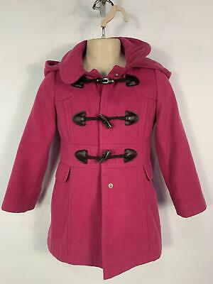 Girls George Dusky Pink Casual Winter Hood Over Coat Jacket Kids Age 5/6 Years