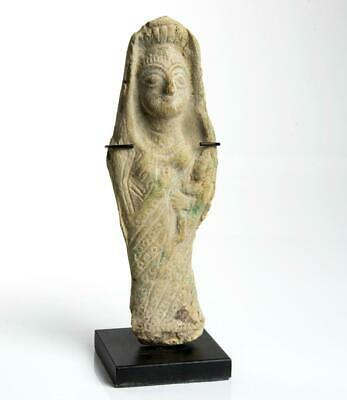 Hellenistic Babylonian statuette of Ishtar with her infant: 2nd Century BC.