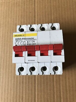 Square D 125a Switch Disconnector Ac22a Electrical 4 Pole