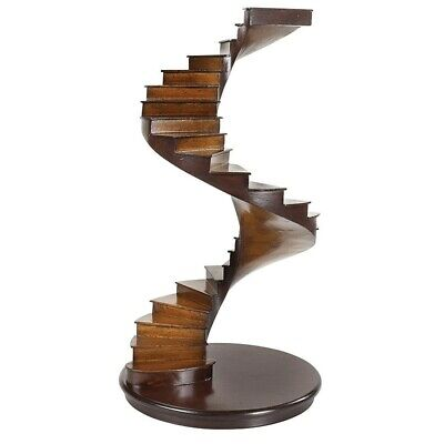 Apprentice Piece Spiral Stairs curio Display Handmade stairs architectural helix